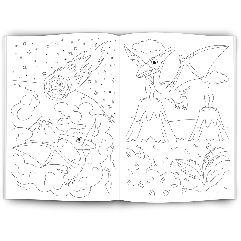Malbuch DINOSAURIER - Werbeartikel für Kinder