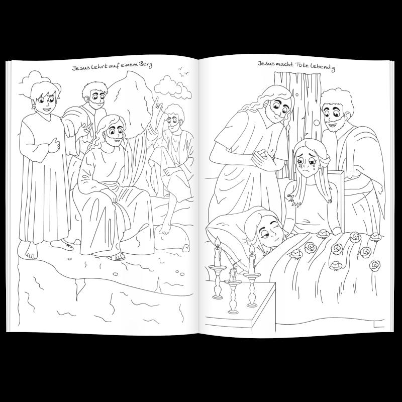 Fein Bibel Malbuch Ideen - Beispielzusammenfassung Ideen - teriesta.com