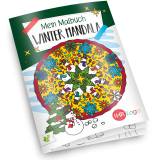 Malbuch WINTER MANDALA